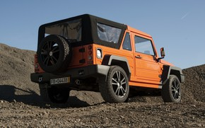 Picture sand, orange, stones, SUV, back, 2011, 4x4, Travec, Tecdrah Integrale 1.5 TTi, Renault/Dacia Duster, frame