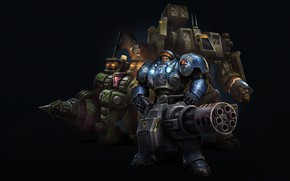 Picture Blizzard, Art, StarCraft II, Commander, Space Marines, Tychus more, Tychus Findlay More, Game Art, Brandon …