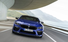 Picture coupe, BMW, front, in motion, 2019, BMW M8, M8, M8 Competition Coupe, M8 Coupe, F92