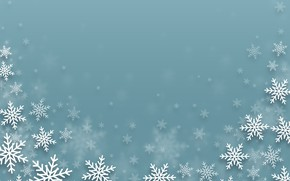 Picture winter, snowflakes, texture, Christmas, New year, haze, dissolution, blue background, bokeh