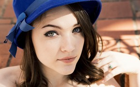 Picture look, girl, face, hat, Violett Beane