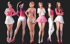 Wallpaper Girls, Figure, Art, Concept Art, Asian girls, J.Won Han, berry good, by J.Won Han