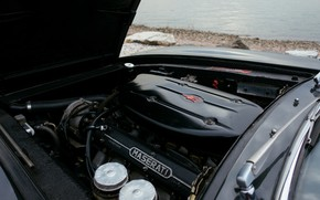 Picture engine, black, Maserati, 1969, Roadster, spider, Ghibli Spider