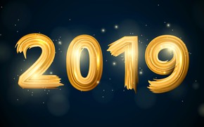 Picture figures, New year, 2019