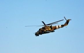 Picture the sky, helicopter, Crocodile, Hind, shock, Miles, Mi-24P, Ukrainian air force