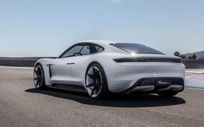 Picture Concept, Porsche, rear view, Mission E