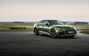 Picture Audi, Parking, green, RS 5, 2020, Sportback, RS5 Sportback