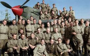 Picture May, Men, Il-2, 566-th assault aviation regiment, Pilots, Veterans