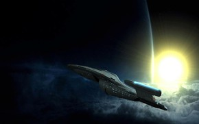 Picture space, ship, planet, Star Trek, Travel Image