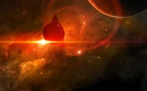 Picture The sun, Stars, Planet, Space, Nebula, Planet, Fantasy, Planets, Art, Stars, Space, Blik, Art, Satellite, …