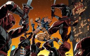 Picture Hand, Costume, Fight, Hero, Ninja, Wolverine, Logan, Comic, Claws, Swords, Superhero, Hero, Wolverine, Logan, Marvel, …