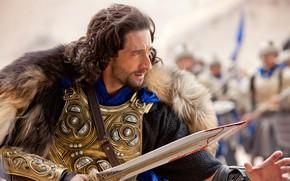 Picture look, pose, sword, armor, Adrien Brody, Dragon sword, Dragon Blade, Adrien Brody, Tiberius