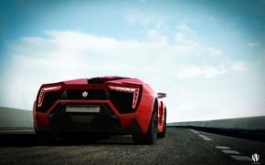 Picture Red, Auto, Machine, Supercar, Rendering, Concept Art, Sports car, Game Art, Transport & Vehicles, Benoit …