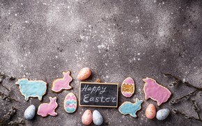 Picture holiday, eggs, spring, Easter, gingerbread