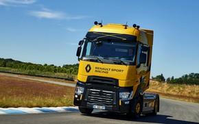Picture track, turn, truck, Renault, 2018, tractor, T520, Renault Trucks, T-series, Renault Sport Racing, High Cab, …
