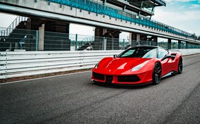 Picture Ferrari, supercar, GTB, 2018, 488, Pogea Racing, FPlus Corsa