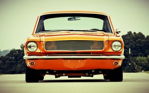 Picture Orange, Ford Mustang, Muscle car