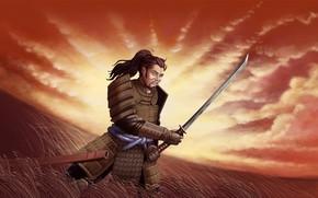 Picture Sword, Samurai, Male