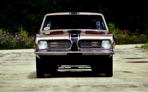 Picture Muscle, Racing, Barracuda, Plymouth, Brown, Hemi, 1968 Year