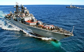 Picture maneuvering, Admiral Panteleyev, project 1155