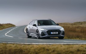 Picture Audi, universal, on the road, RS 6, 2020, 2019, V8 Twin-Turbo, RS6 Avant, UK-version