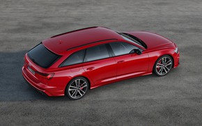 Picture red, Audi, top, side, universal, 2019, A6 Avant, S6 Before