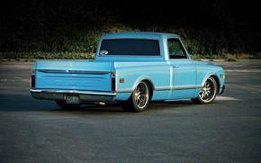 Picture Blue, Truck, Fleetside, Gmc