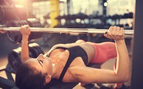 Picture brunette, female, workout, fitness