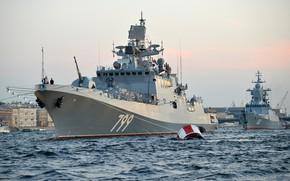 Picture frigate, Neva, Parade, Admiral Makarov
