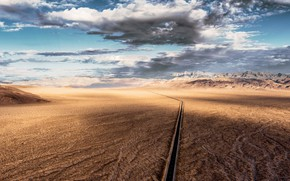 Picture road, the sky, desert
