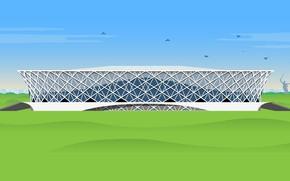 """Picture Football, Russia, Art, Arena, Stadium, Arena, Volgograd, Volgograd, Volgograd Arena, Volgograd Arena, """"Volgograd Arena"""""""