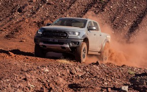 Picture stones, grey, Ford, Raptor, pickup, breed, 2018, Ranger