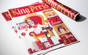 Picture journal, cover, design, illustrations, King Press