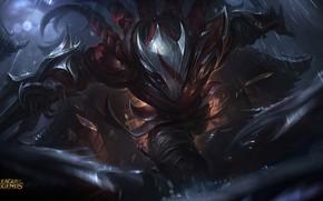 Picture look, the game, armor, warrior, art, runs, League of Legends, Talon, League Of Legends