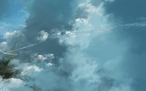 Picture the sky, clouds, paraglider