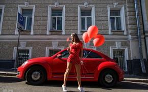 Picture machine, balls, Girl, Oleg Klimin, Pauline Gofshtein