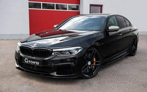 Picture black, BMW, sedan, G-Power, 2018, 5, four-door, 5-series, G30, M550i