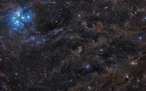 Picture space, stars, constellation, endless, nebula