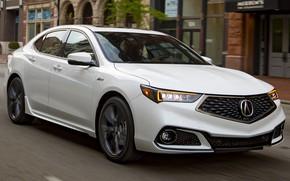 Picture car, machine, street, lights, speed, white, white, side, Acura, Acura, Acura TLX A-Spec, Acura TLX
