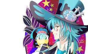 Picture hat, guy, Dramatical Murder, Dramatic murder, Aoba, by chienu