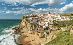 Picture clouds, the ocean, home, panorama, Portugal