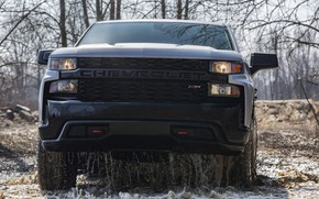 Picture water, Chevrolet, before, pickup, Custom, Silverado, 2020, drains