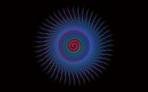 Picture background, black, pattern, round