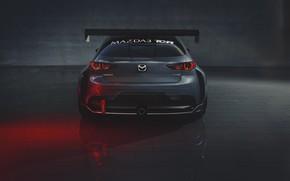 Picture Mazda, rear view, Mazda 3, 2020, TCR
