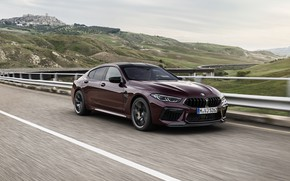 Picture coupe, BMW, on the track, 2019, M8, the four-door, M8 Gran Coupe, M8 Competition Gran …