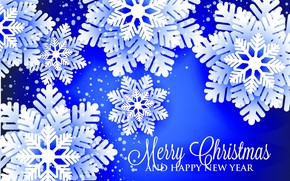 Picture photo, Snowflakes, New year, Graphics, Vector