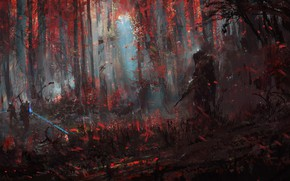 Picture Color, Forest, Soldiers, Art, Art, Fiction, Illustration, Characters, Science Fiction, Open Season, Wadim Kashin, by …