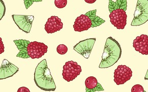 Picture berries, kiwi, texture, background