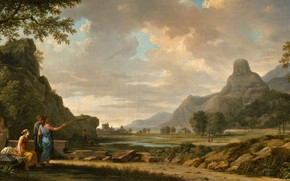 Picture picture, painting, painting, 1796, Гора Афон, Mount Athos, Пьер Анри де Валансьен, Pierre Henri de …