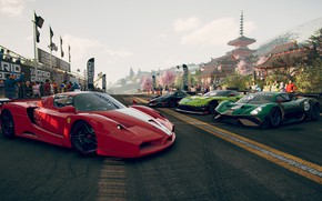 Picture road, machine, the city, people, race, the game, track, spring, cars, GRID, 2019, GRID (2019)